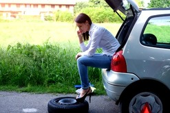 Flat tire change service in Norcross Ga